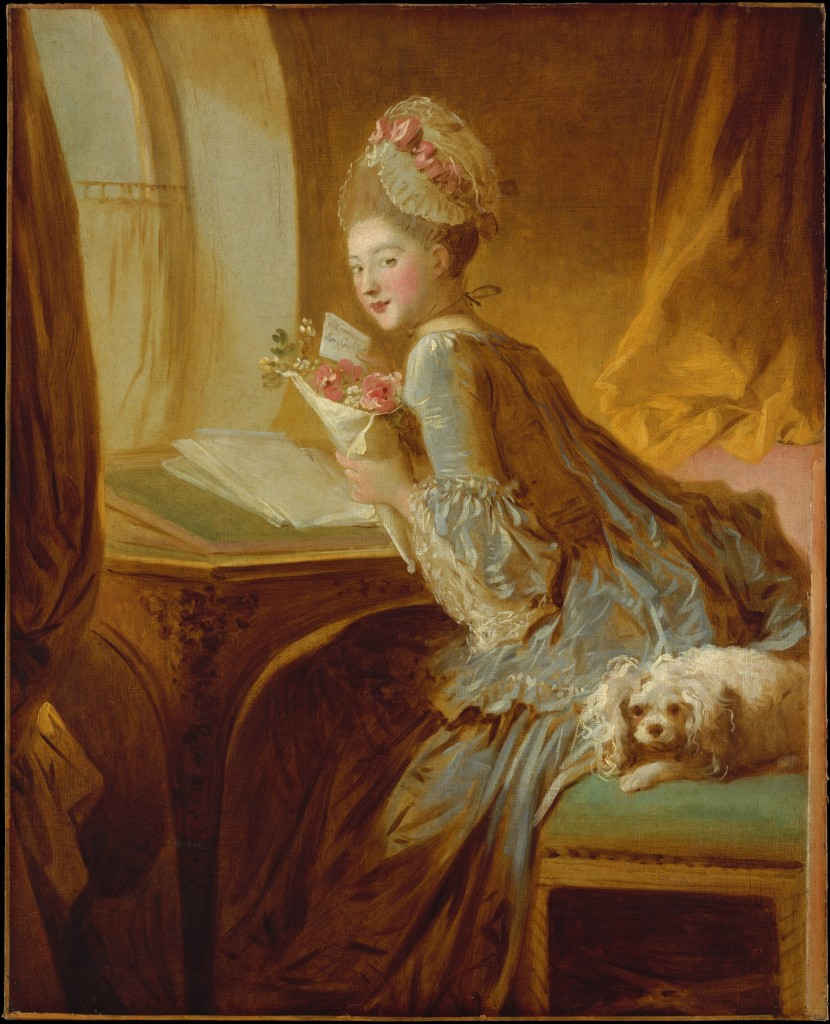 Jean Honore Fragonard The Love Letter, early 1770's
